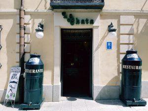 Entrada Restaurante La Chata en La Granja de San Ildefonso. Segovia